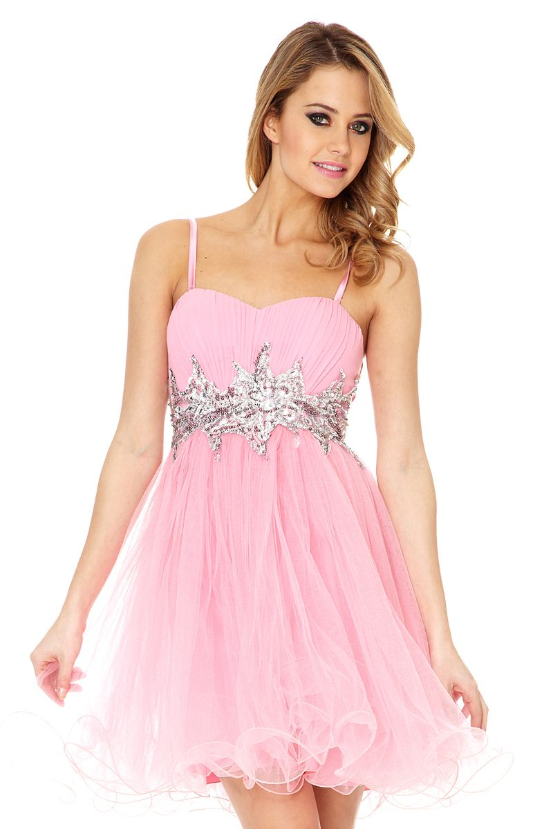 Sequin and jewel prom dress