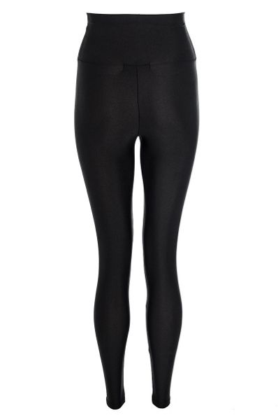 Shiny high waist disco leggings
