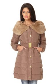 Big Faux Fur Collar Jacket