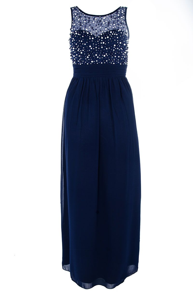 Pearl And Diamante Maxi Dress
