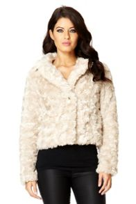 Rose Faux Fur Short Jacket