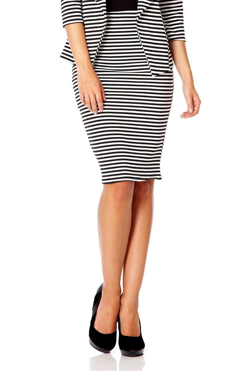 Stripes Midi Skirt
