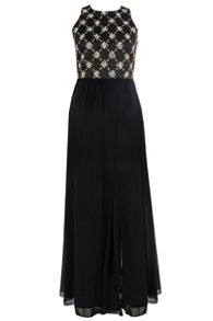 Satin Embellished Maxi Dress