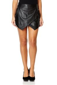 PU Cross Over Skort