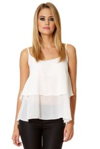 QUIZ Chiffon Double Layer Camisole Top