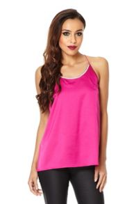 Diamante Neck Swing Vest Top
