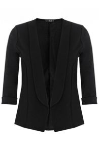 Black 3/4 Sleeve Jacket