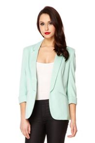 Mint 3/4 Sleeve Blazer