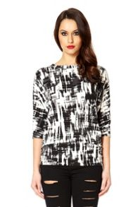 Grey 3/4 sleeve ruched side top