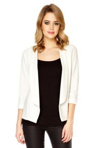 Cream 3/4 sleeve blazer