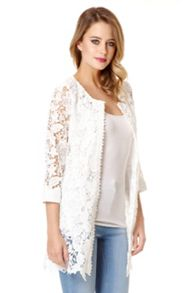 White Lace 3/4 Sleeve Jacket