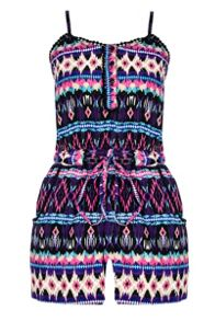 Multi Colour Aztec Playsuit