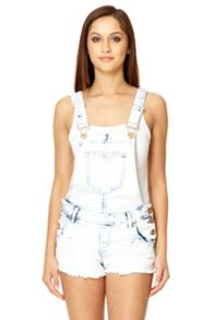 Light Blue Acid Wash Dungarees