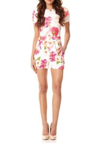 Floral Print Zip Back Playsuit