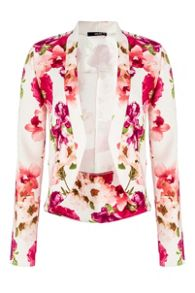 Flower Long Sleeve Blazer