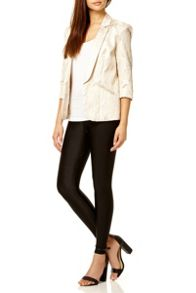 Cream Gold Jacquard Blazer