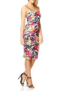 QUIZ Multi Colour Print Bodycon Dress
