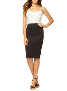 Black Midi Bodycon Skirt