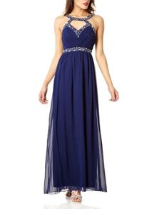 Quiz Navy Sweetheart Maxi Dress