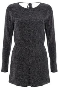 Black Brillo Cowl Back Playsuit