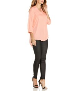 Quiz Light Coral Crepe 3/4 Sleeve Top