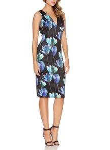 Quiz Black Flower Print Midi Dress