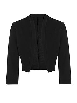 Black 3/4 Sleeve Crop Jacket