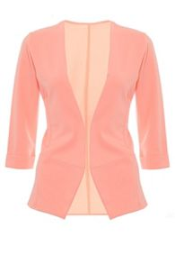 Quiz Coral 3/4 Sleeve Turn Up Jacket