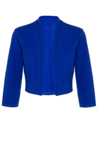 Quiz Royal Blue 3/4 Sleeve Crop Jacket