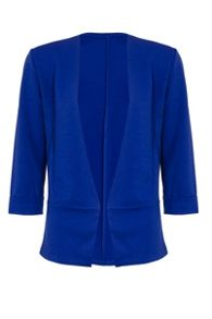 Quiz Royal Blue 3/4 Sleeve Jacket