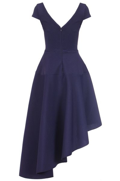 Quiz Navy V Neck Asymmetrical Dress