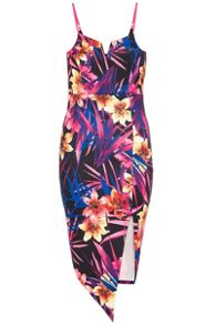 Quiz Tropical Print Bodycon Dress