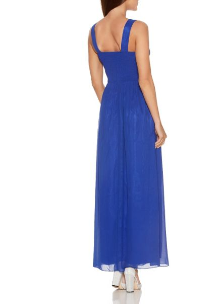 Quiz Blue Chiffon Sequin Maxi Dress