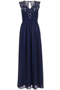 Quiz Navy Diamante Maxi Dress
