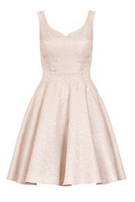 Quiz QUIZ Stone Jacquard Skater Dress