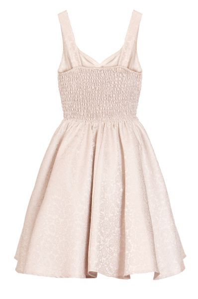 Quiz Stone Jacquard Skater Dress