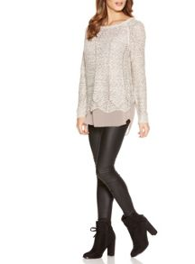 Quiz Stone Sequin Knit Jumper
