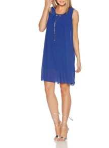 Quiz QUIZ Royal Blue Necklace Tunic Dress