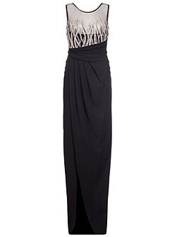 Black And Silver Maxi Dress