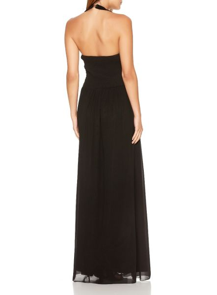 Quiz Black Embellished Maxi Dress