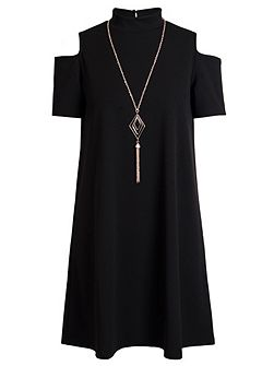 Black Cold Shoulder Tunic