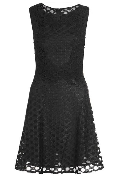 Quiz Black High Neck Skater Dress