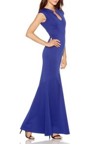 Quiz Blue Bodycon Maxi Dress