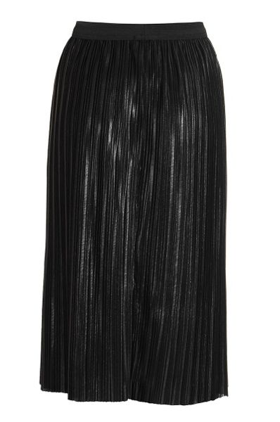 Quiz Black Pleated Metallic Midi Skirt