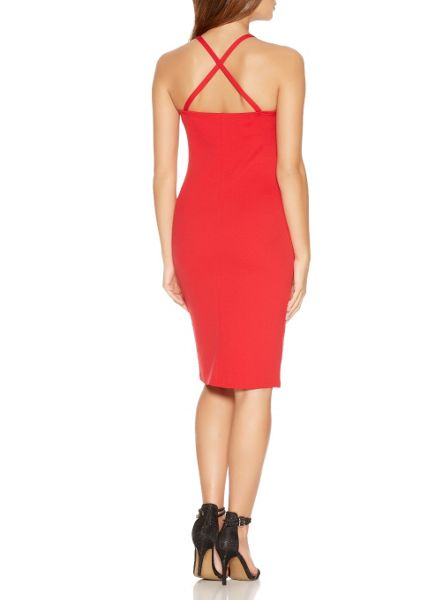 Quiz Red Cup Bodycon Strap Dress