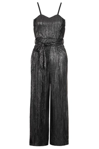 Quiz Black Pleated Culotte Jumpsuit