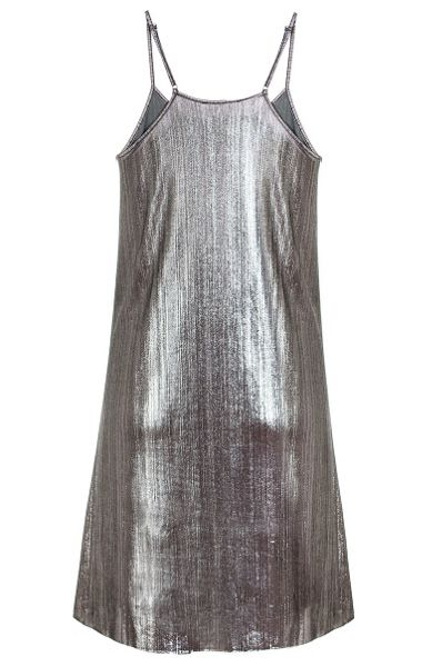 Quiz Silver Metallic Cami Dress