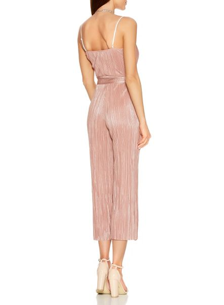Quiz Nude And Silver Culotte Jumpsuit