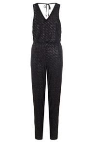 Quiz Black Glitter Diamond Jumpsuit