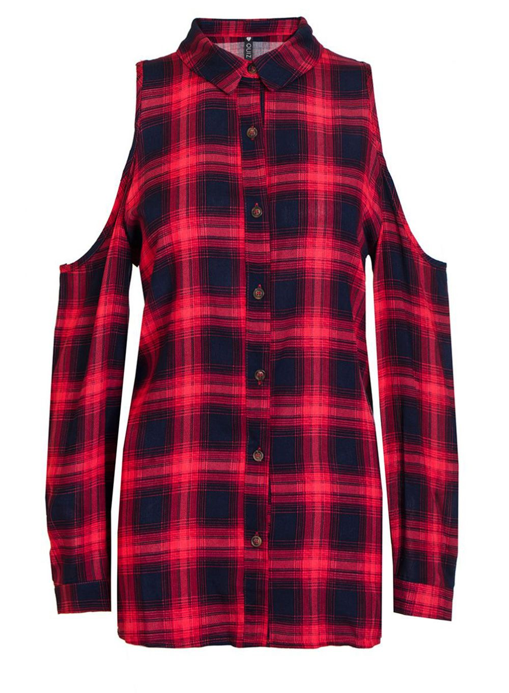 Quiz Quiz Red And Blue Check Shirt, Red